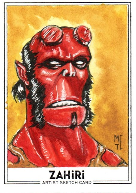 Hellboy : Zahiri Sketch Card art by Metehan Erbil