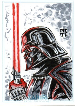 Darth Vader : Zahiri Sketch Card art by Metehan Erbil
