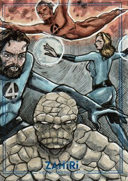Fantastic Four : Zahiri Sketch Card art by Yiğit Yerlikaya