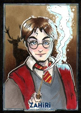 Harry Potter : Zahiri Sketch Card art by Elis