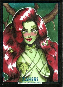 Poison Ivy : Zahiri Sketch Card art by Elis