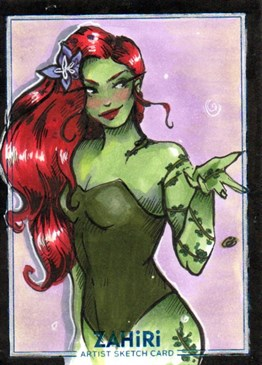 Poison Ivy 02: Zahiri Sketch Card art by Elis