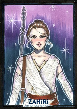 Rey : Zahiri Sketch Card art by Elis