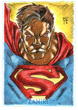 Superman : Zahiri Sketch Card art by Metehan Erbil