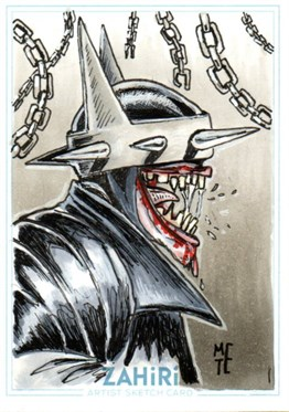 The Batman Who Laughs : Zahiri Sketch Card art by Metehan Erbil