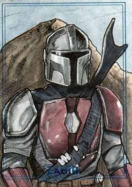 The Mandalorian : Zahiri Sketch Card art by Yiğit Yerlikaya