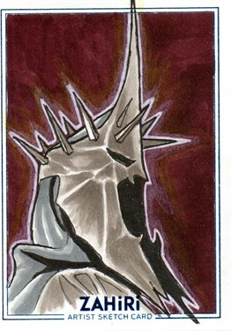 The Witch King of Angmar : Zahiri Sketch Card art by Emre Varlıbaş